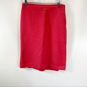Moschino Cheap And Chic Coral Pencil Skirt Size 8